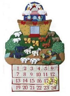 RETIRED Large Noahs Ark Fabric Christmas Advent Calendar