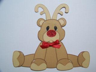 Reindeer Christmas Scrapbook Paper Piecing
