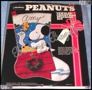 My List Snoopy Woodstock Felt Christmas Stocking Kit