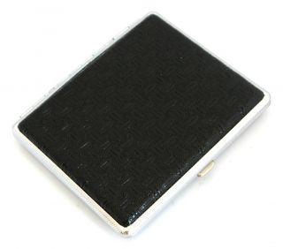 100s Shinny Leather Cigarette Case 70196 Black Patch