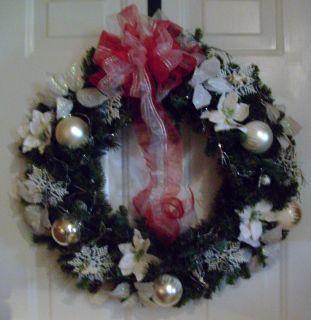 Handmade Christmas Wreath Christmas In Paris artificial white, black