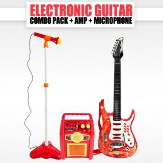 Guitar Microphone Amplifier Toys Kids Karaoke Electric Boy Girl