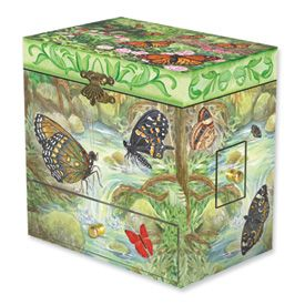 New Childs Monarchs Butterfly Musical Jewelry Box Gift