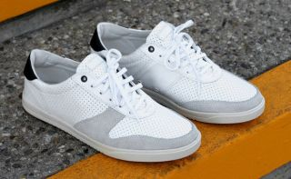 MENS CLAE GREGORY WHITE PREF LEATHER CASUAL SNEAKER SHOE sz 9 MSRP 140