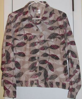 CHRISTOPHER BANKS WOMENS BEAUTIFUL SHIRT JACKET TOP SZ MED