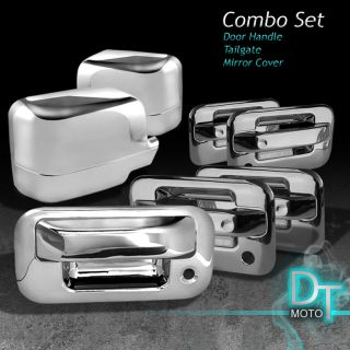 04 08 Ford F150 4DR Chrome Side Mirror Tailgate Tail Gate Door Handle