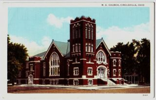 Old Circleville Ohio Postcard Me Church Pickaway County