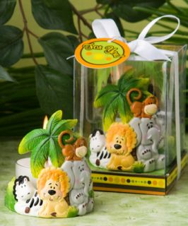 36 Jungle Critters Collection Candle Christening Baby Shower Favors