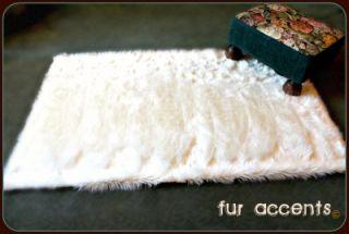 x3 White Sheepskins Area Rug Faux Fur Bear Skin Cabin Accent Shag