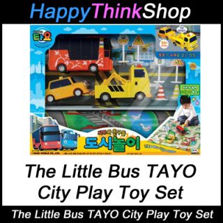 Bus Tayo City Play Toy Set with 3 Characters Cito Toto Nuri