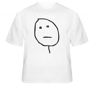 Poker Face Clean 4chan Meme Rage Comic Funny T Shirt