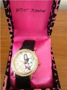 Auth Betsey Johnson Bling Puppy Dog Watch $59 USA Seller