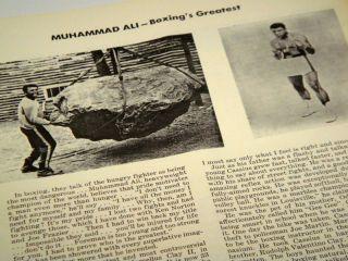 Vtg 1975 Muhammad Ali Chuck Wepner ONSITE Boxing Program Clay