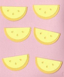 lot of 6 sizzix lemon slices die cuts