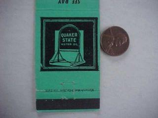1950s Clarkston Washington Conoco Gas Quaker State Oil Matchcover 4th