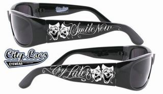 SMILE NOW CRY LATER CITY LOCS SUNGLASSES CHOPPERS CHICANO RAP NWT CH59