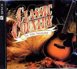 Oldies Classic Country 50s Treasures 2 CD 30 Hits Time Life Brand New