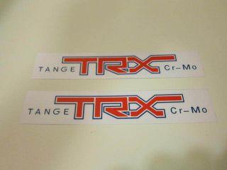 Old School BMX Tange TRX Fork Sticker x 2 Clear