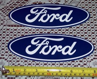 Two 8 Classic Ford Motor Company Oval Adhesive Vinyl Glossy Decals