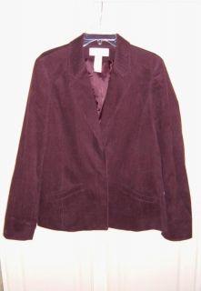Liz Claiborne Corduroy Washable Blazer   Size 14