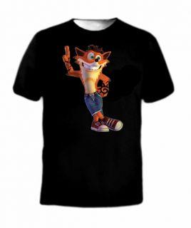 Crash Bandicoot Funny Game Classic T Shirt Old School Cortex 90s