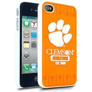 iPhone 4 4S Clemson Tigers Faceplate Protective Hard Case Cover NCAA
