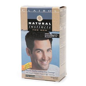 Clairol Natural Instincts for Men Gray Coverage Brown Black M017 1 Ea