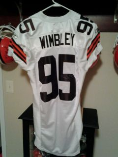 Cleveland Browns Game Jersey Autographed Wimbley Titans