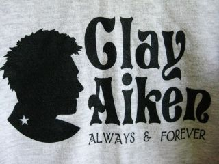 OOAK CLAY AIKEN sweatshirt THE VOICE from BEFORE American Idol