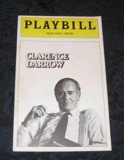 Playbill Clarence Darrow Henry Fonda Helen Hayes 1974