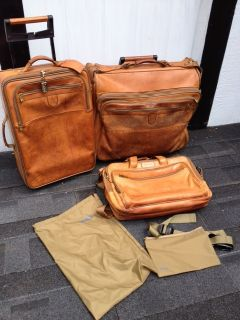 Hartmann Belting Leather Rolling Garment Bag / Carry on Luggage