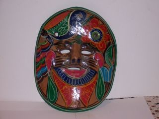 Mexico Clay Pottery Mask Pan American Clay Works Colorful