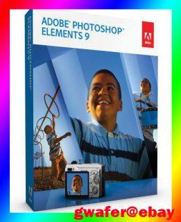 Brand New Genuine Adobe Photoshop Elements 9 Windows Mac Full Function