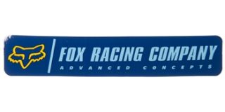 Fox Racing Advanced Logo Sticker