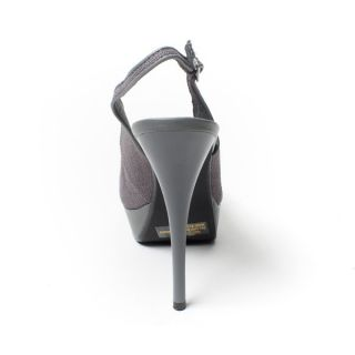 Womens Shoes Gray High Heel Platform Stiletto Slingback Pump Sandal US