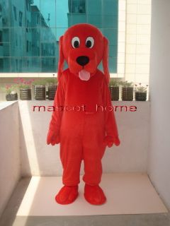 Professional Red Clifford Dog Mascot Costume Adult Size