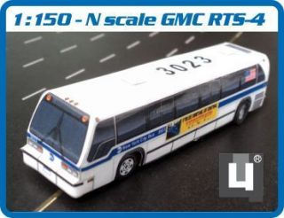 Scale 1 150 GMC RTS MTA New York City Bus Handmade Model
