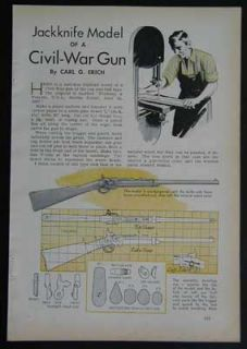 Ball Cap Gun Wooden Model How to Plans Civil War Rifle
