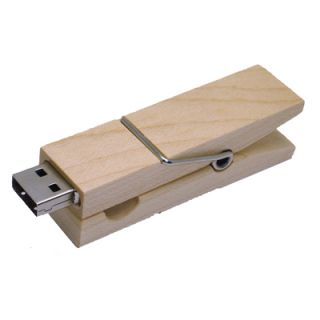 8g Fashion Wood Clip USB Flash Drive Memory Disk