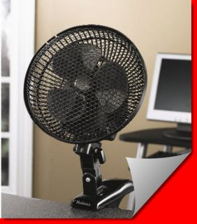 Oscillating Personal Electric 7 Inch Clip On Office Table Desk Fan 6 9