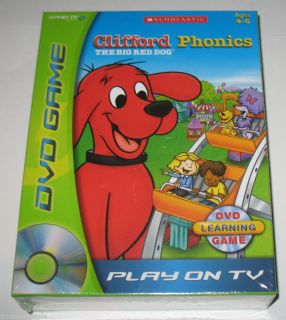 New Clifford The Big Red Dog DVD Phonics Game Play TV