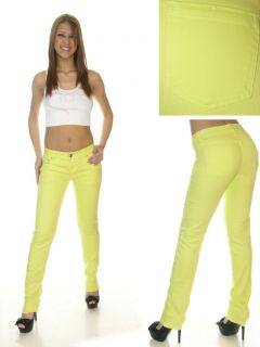 Neon Green Skinny Jeans by Crunch Clothing