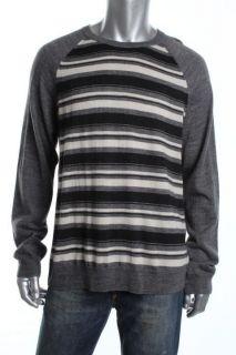 Club Room NEW Gray Merino Wool Crew Neck Raglan Sleeve Pullover