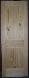 Knotty Pine 2 Panel Interior Door Raised Panel V Grooved Panels 28x80