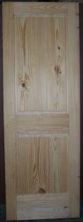 Knotty Pine 2 Panel Interior Door Raised Panel V Grooved Panels 28x80