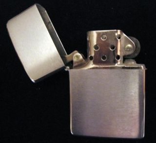 Vintage Zippo Lighter 200 Brush Finish w Box Clean Cond