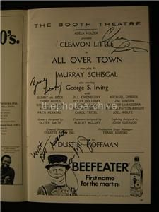 Cleavon Little Zane Lasky All Over Town Signed Booth Theatre Playbill