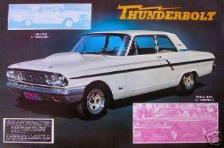 Ford Thunderbolt 427 Fairlane Poster Drag Racing
