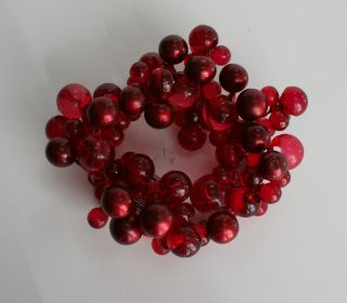 12 christmas candle holder rings cranberry red