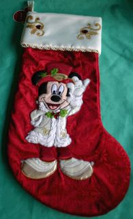disney mickey mouse victorian christmas stocking purchased from disney